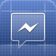 Facebook Messenger icon - blueprint